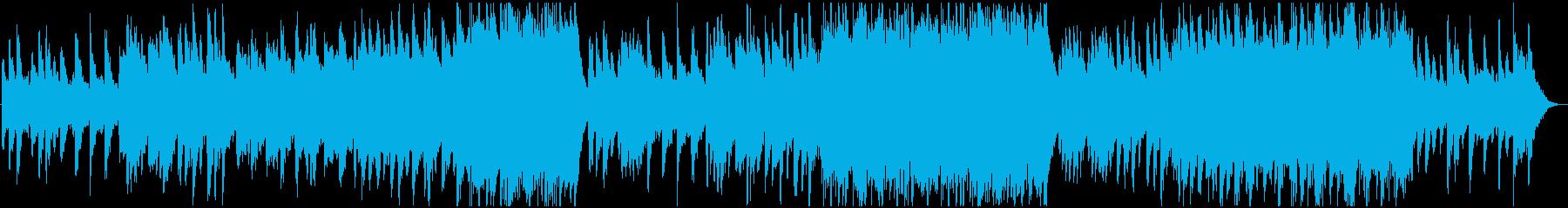 ピアノと弦の幸福感のある優しいBGMの再生済みの波形