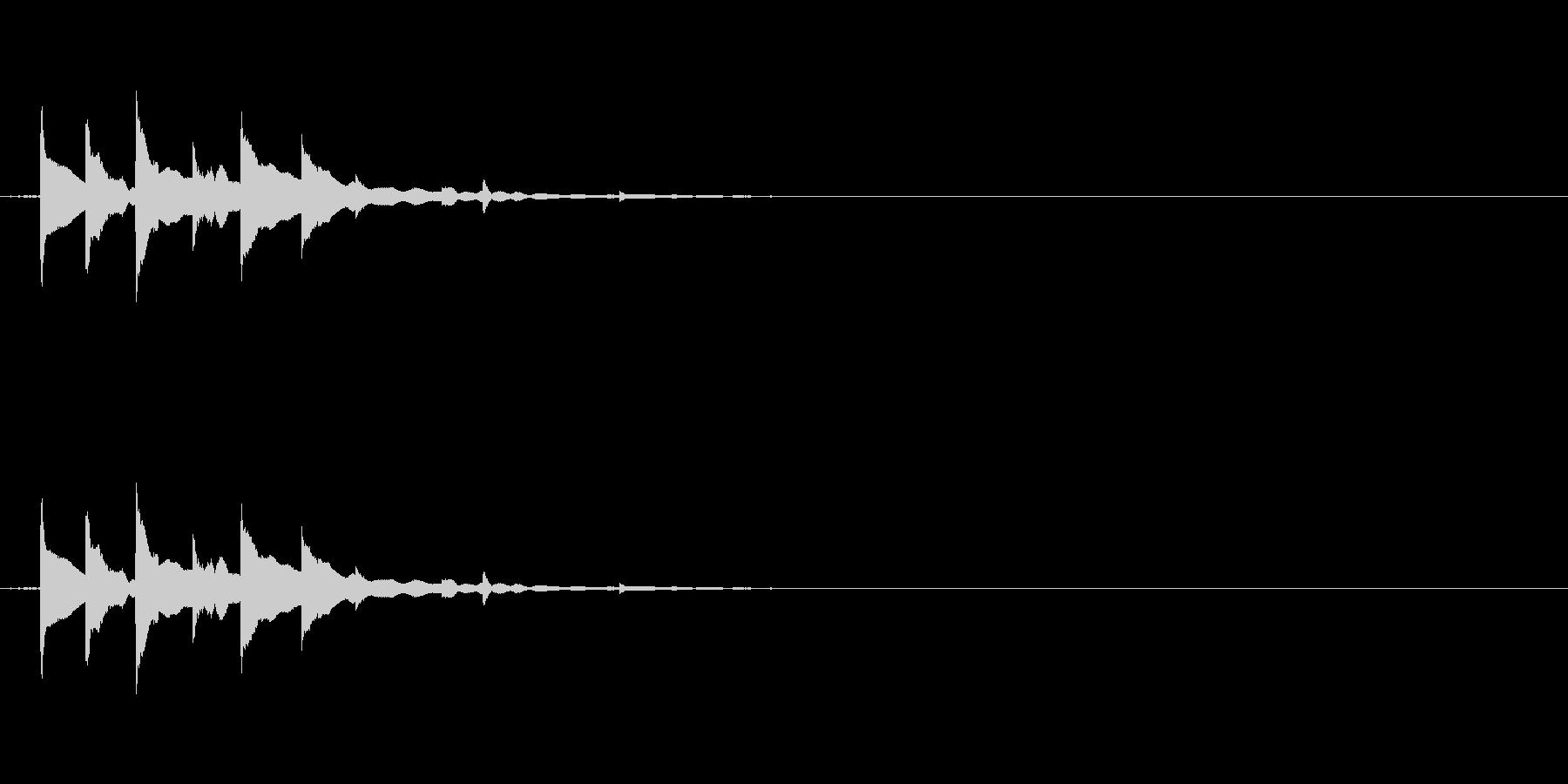 チリチリチリンの未再生の波形