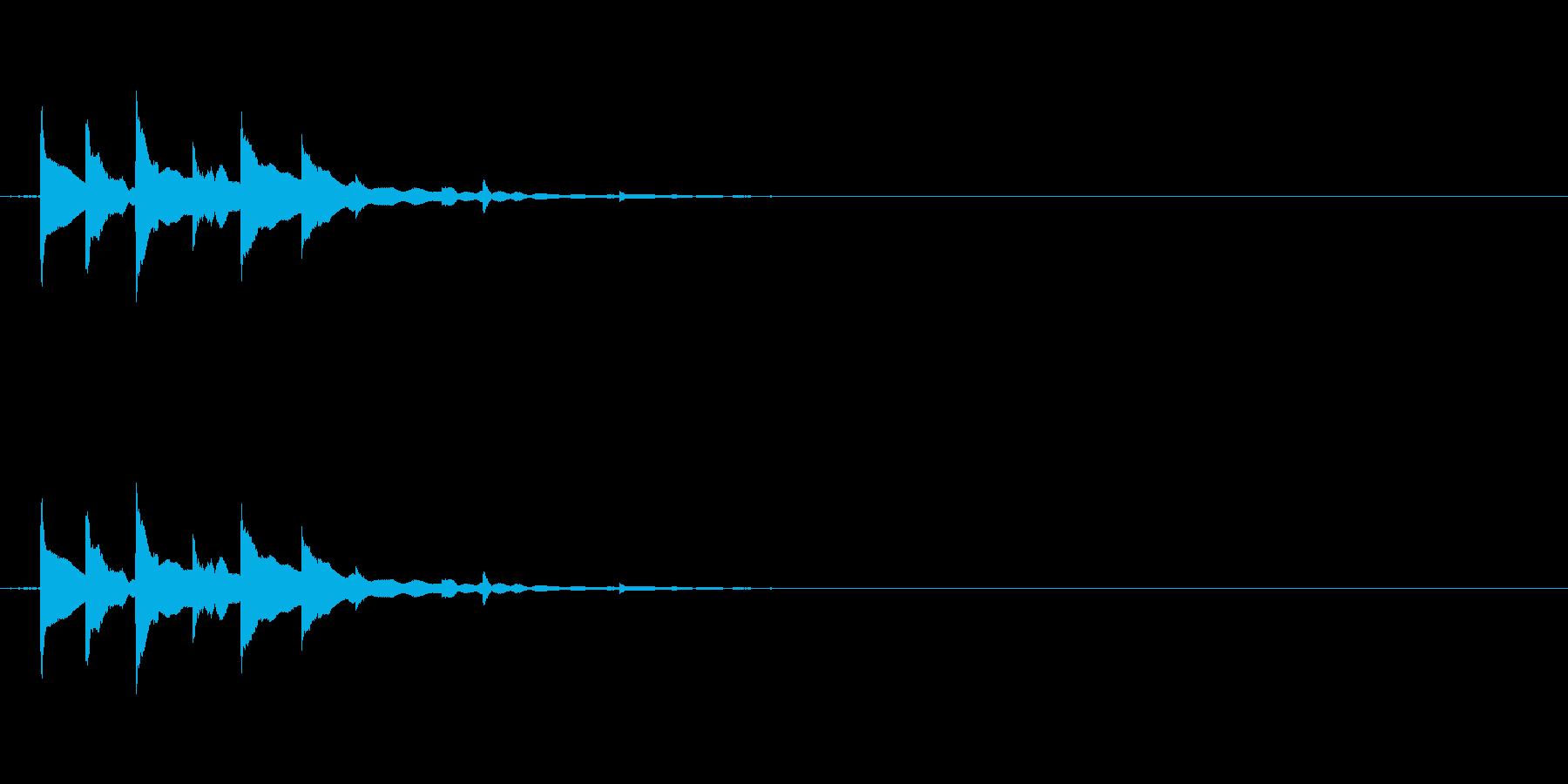 チリチリチリンの再生済みの波形