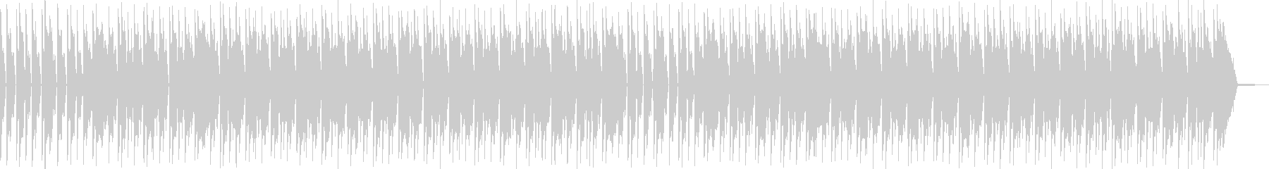 ミュージックベッドの未再生の波形
