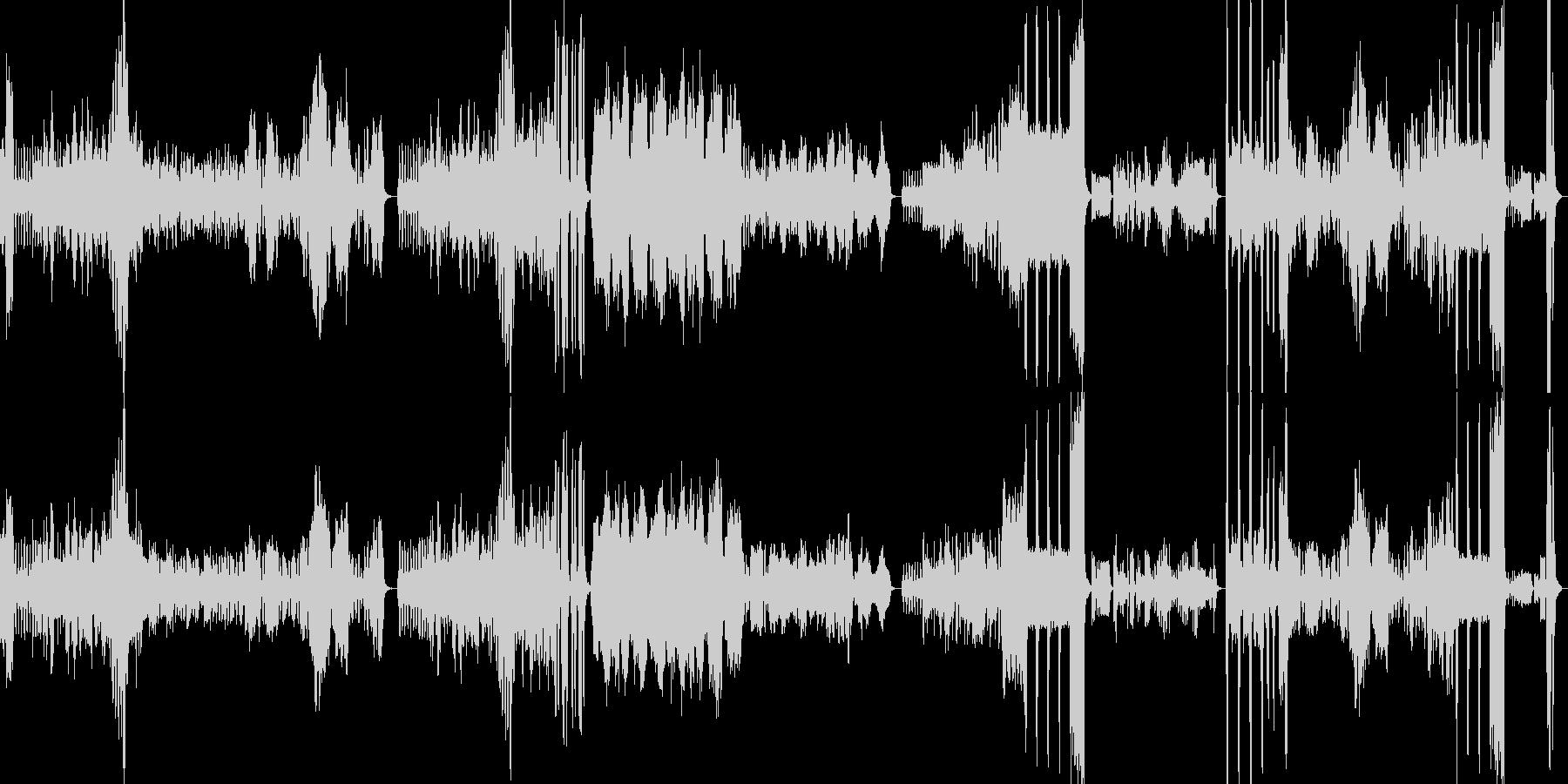 軽快→かわいい→激しいと変化する木琴の曲の未再生の波形
