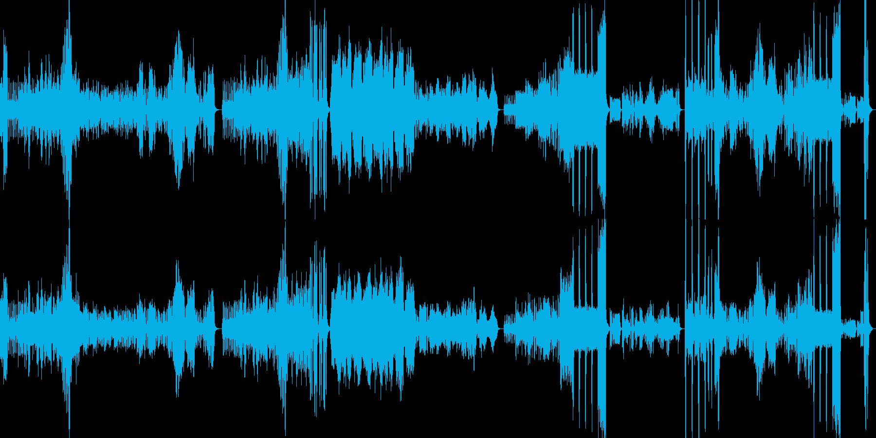 軽快→かわいい→激しいと変化する木琴の曲の再生済みの波形