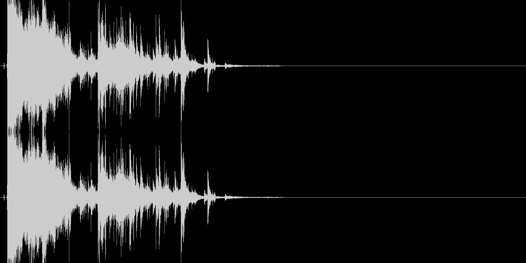 ガラスやグラスが勢いよく割れる効果音05の未再生の波形