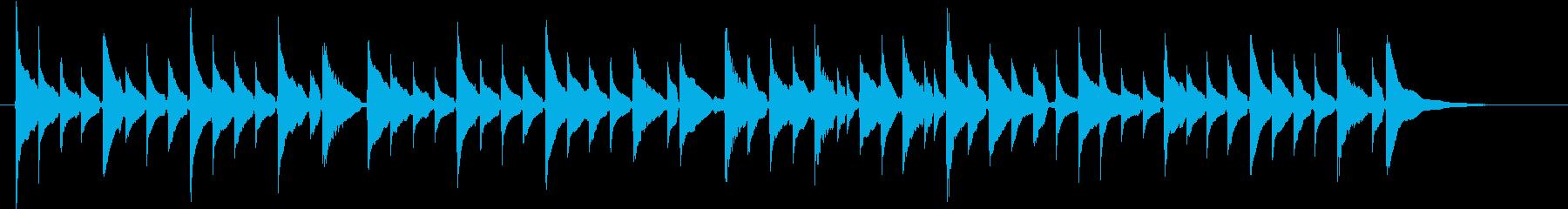 喜びの歌ベートーベン、ソロウクレレ生演奏の再生済みの波形