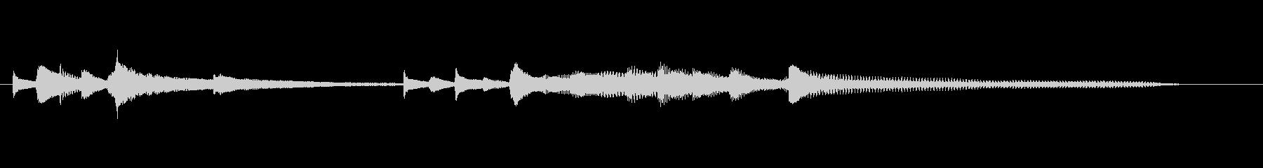 シネマティック 感情的な ピアノの未再生の波形