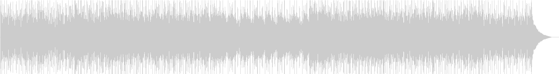 J−POPな曲調のBGMの未再生の波形