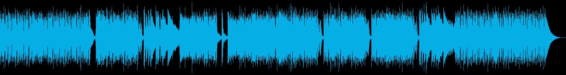 生演奏ギターの明るいボサノバオープニングの再生済みの波形