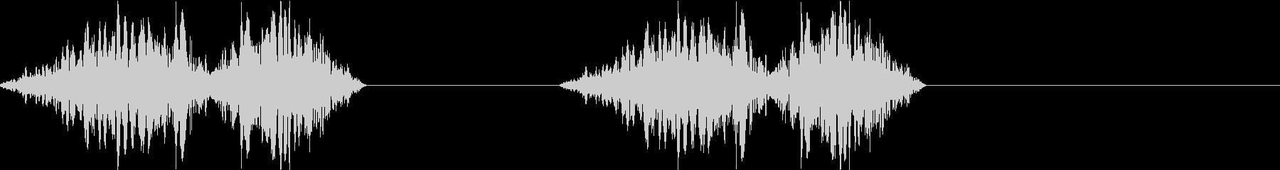DJプレイ スクラッチ・ノイズ 200の未再生の波形