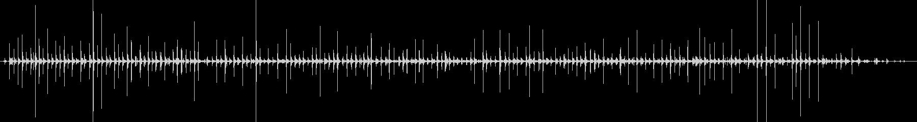 バイノーラル足音走るサンダル_右の未再生の波形
