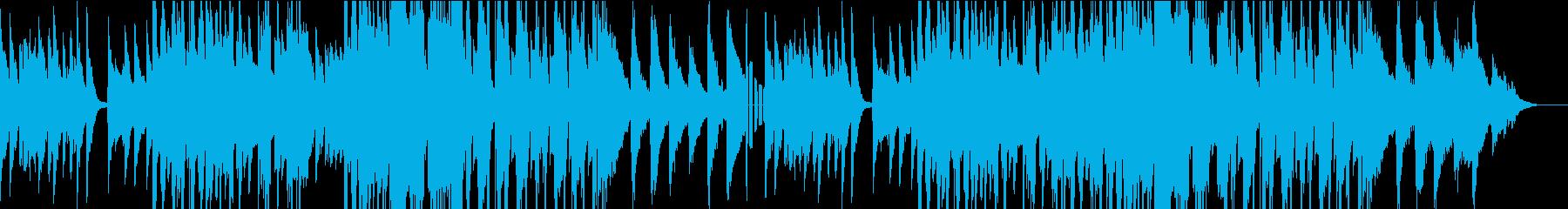 リラックスできるピアノのBGMの再生済みの波形
