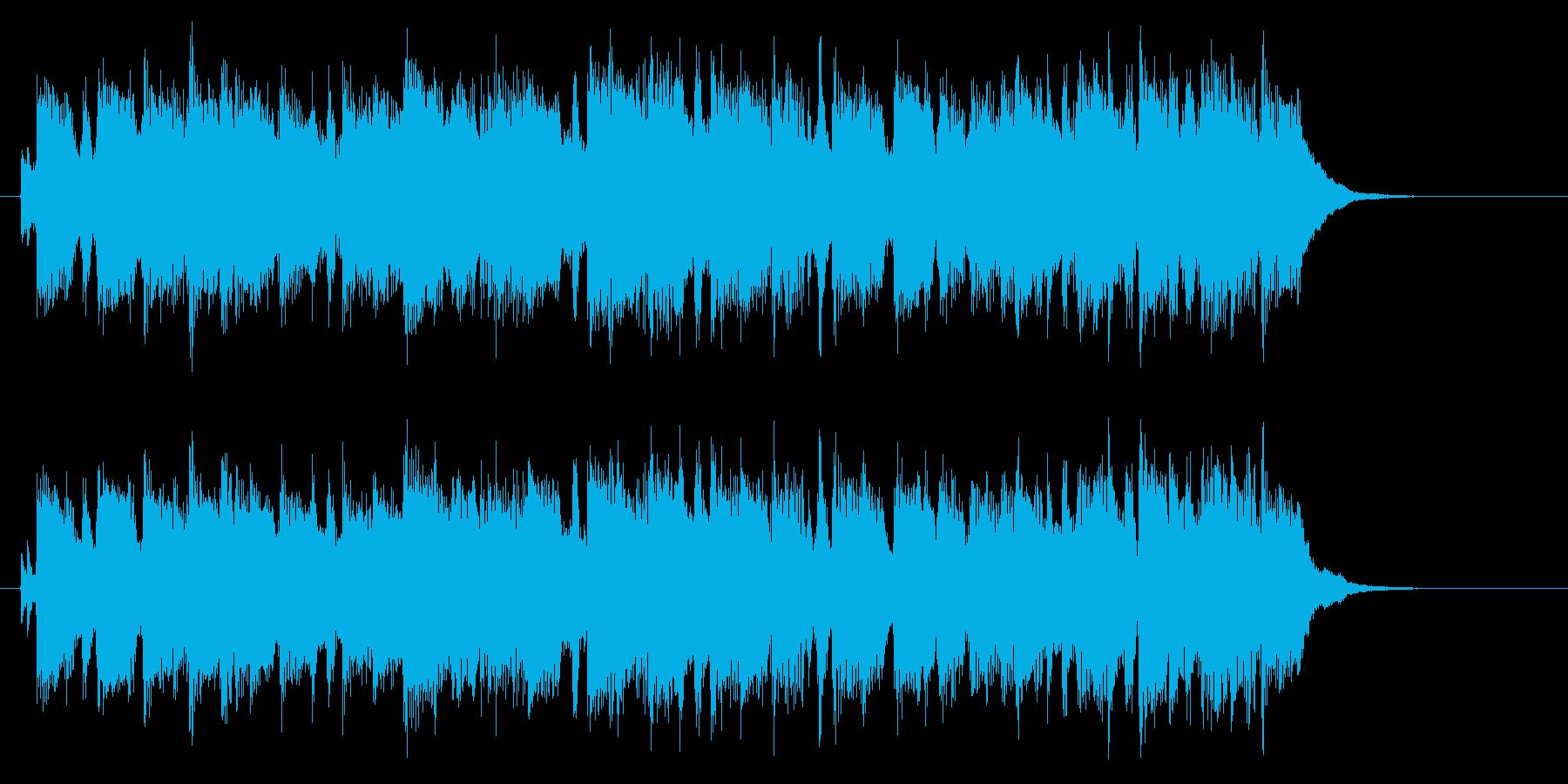 ギターソロがかっこいいポップスのジングルの再生済みの波形