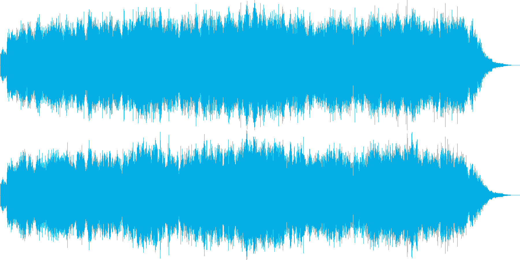 エレキギターによる青く漂うようなインストの再生済みの波形