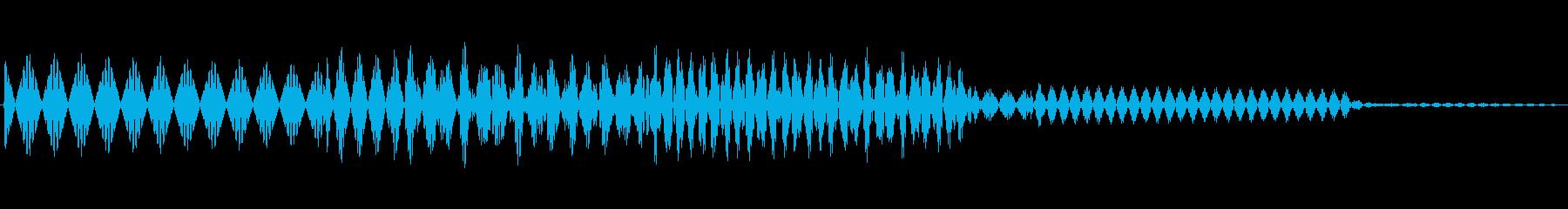 ボタン決定音システム選択タッチ登録C05の再生済みの波形