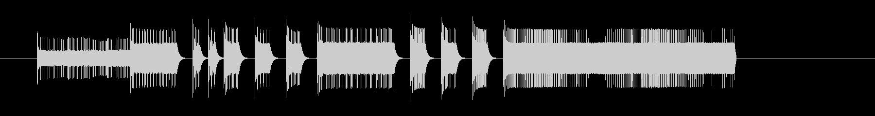 ファミコンゲーム風ファンファーレの未再生の波形