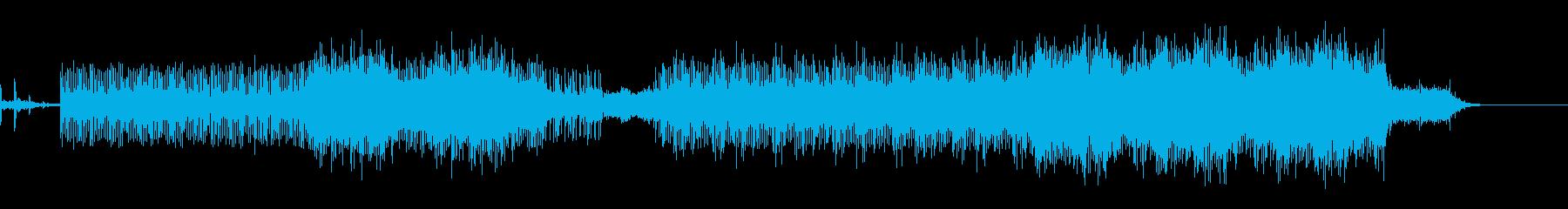 宇宙遊泳しているような雰囲気の曲の再生済みの波形
