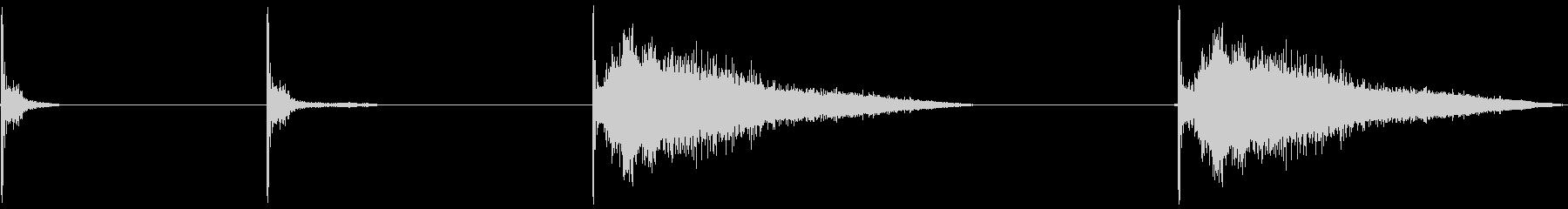 マシンガン、4バージョン、加工済み...の未再生の波形