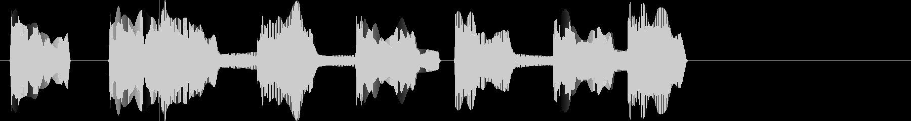 負けた時の残念な音01の未再生の波形