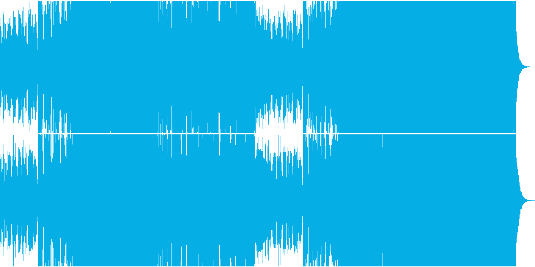 大らかな中華サンウンド系EDMの再生済みの波形
