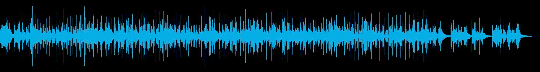 神秘的で無国籍なシンセエフェクト系BGMの再生済みの波形