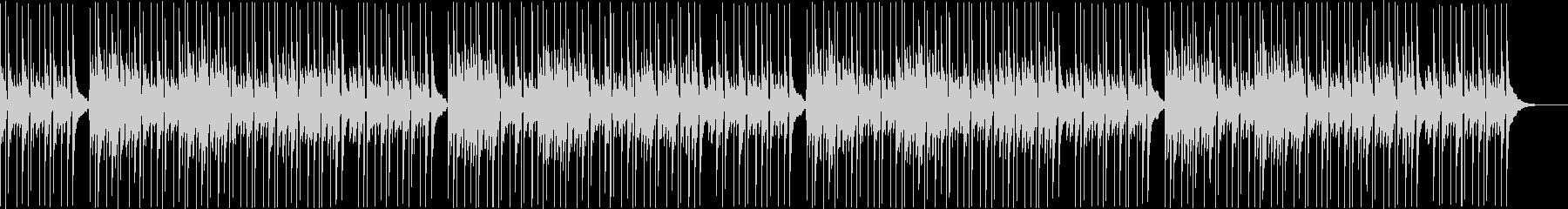 ピアノのゆったりBGMの未再生の波形