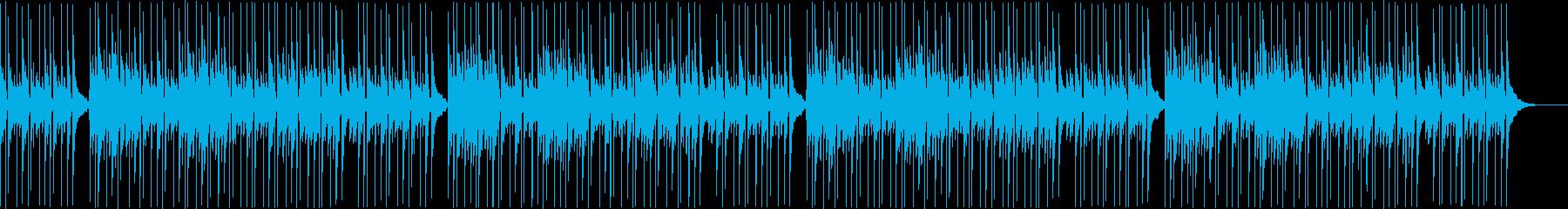 ピアノのゆったりBGMの再生済みの波形
