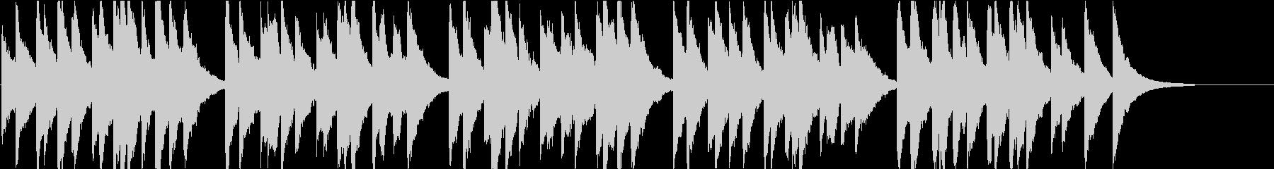 時報・チャイム風の名曲のメロディ・17の未再生の波形