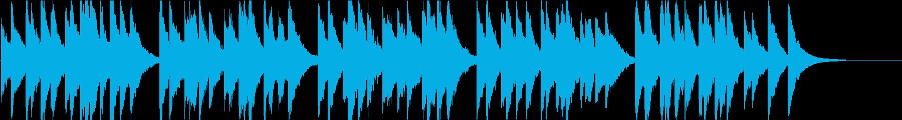 時報・チャイム風の名曲のメロディ・17の再生済みの波形