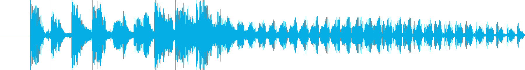 エッジの効いたドラムンベース/ブレ...の再生済みの波形