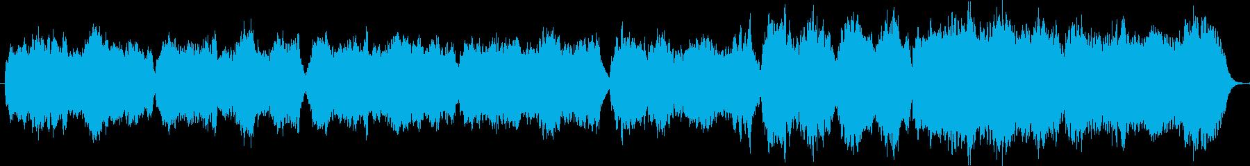 木管とチェンバロの三拍子のバロック曲の再生済みの波形