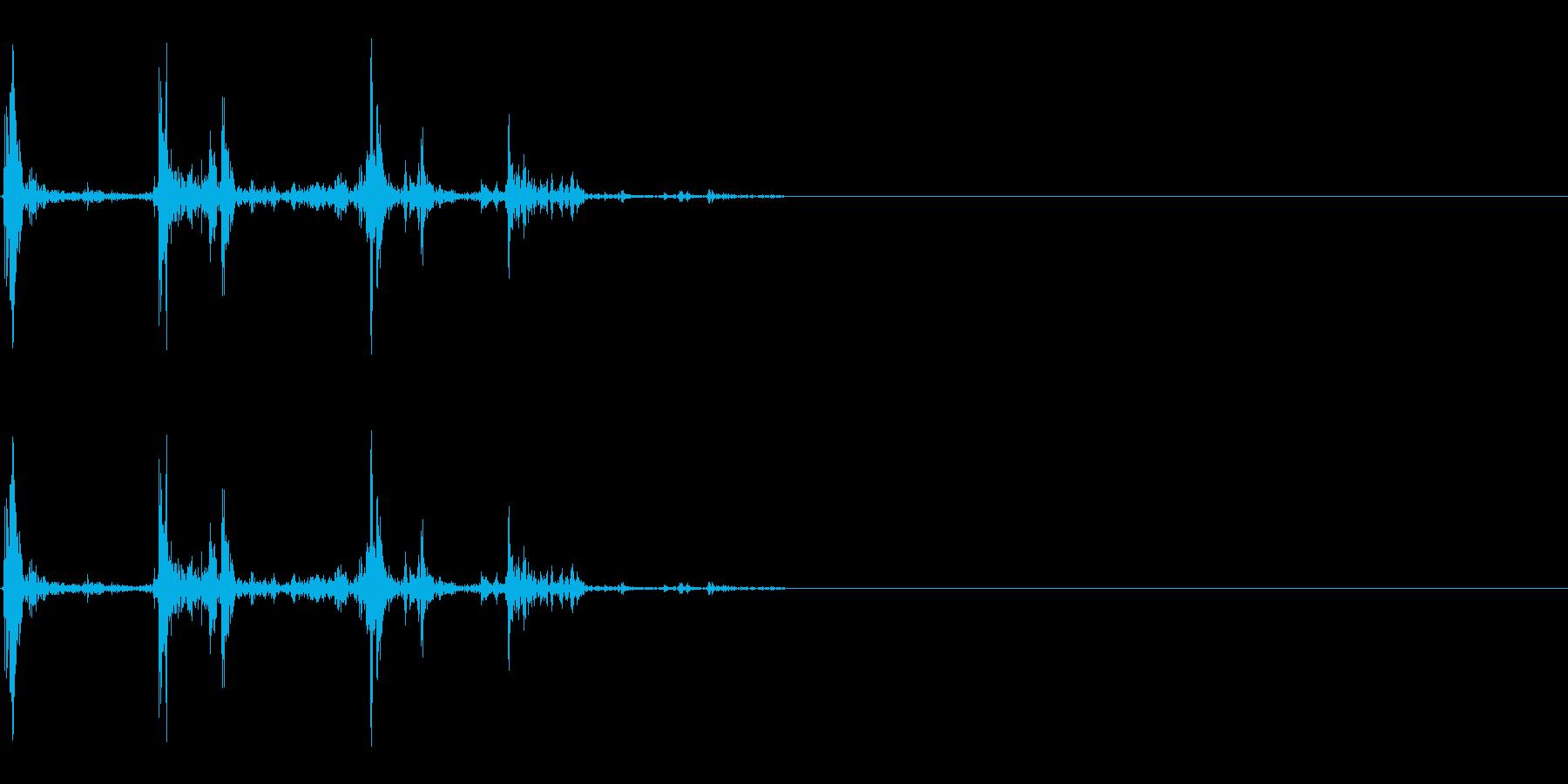 水/UI・システム音/選択/パチャッの再生済みの波形