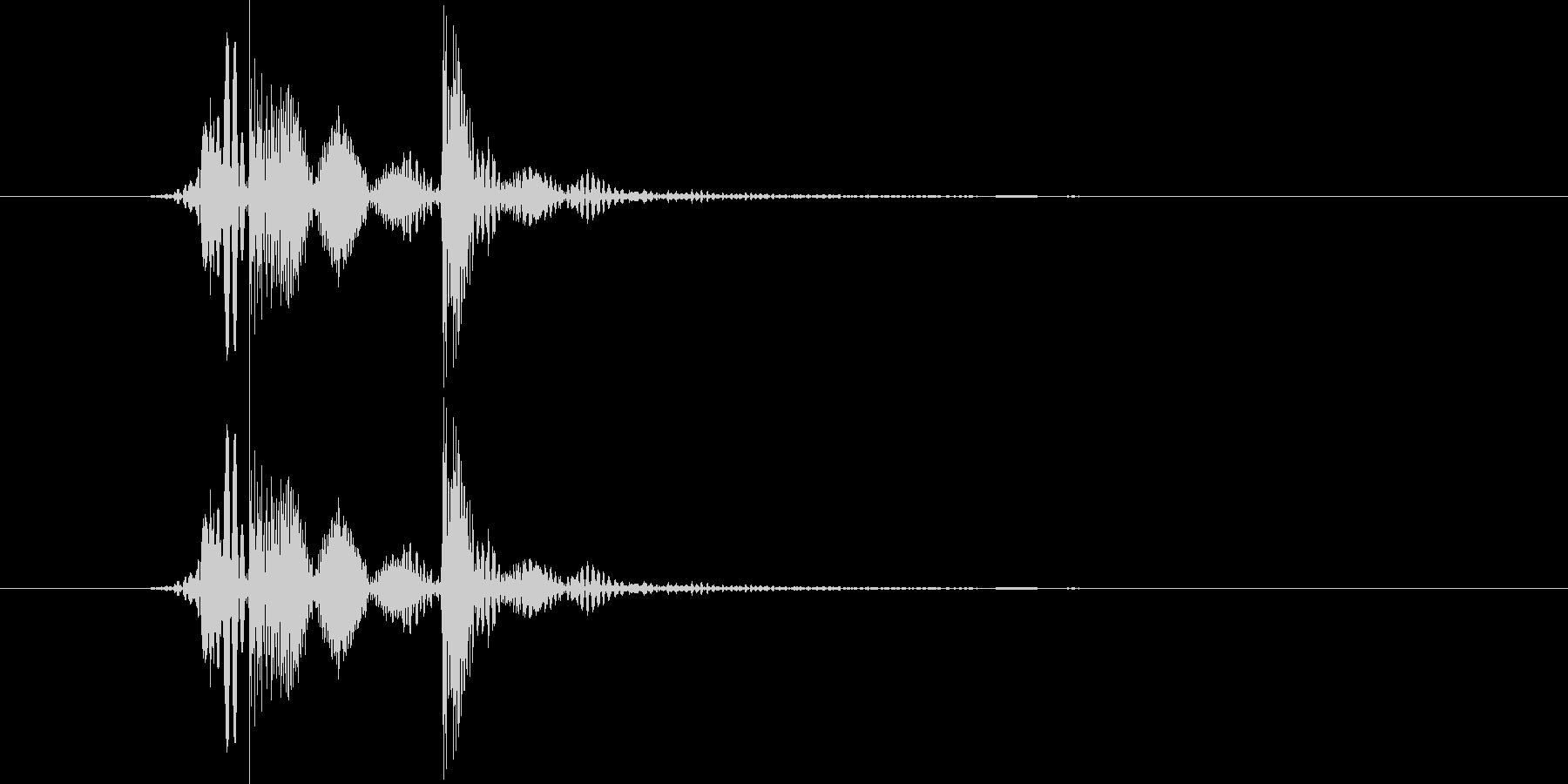 パカの未再生の波形