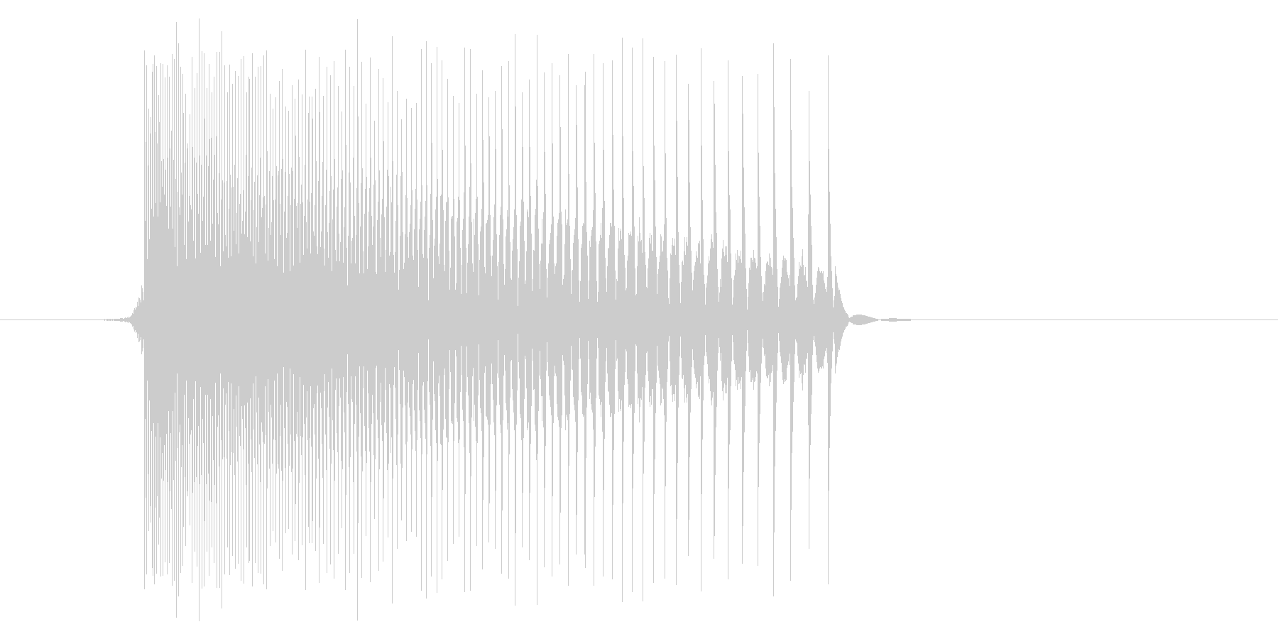 ゲーム(ファミコン風)レーザー音_011の未再生の波形