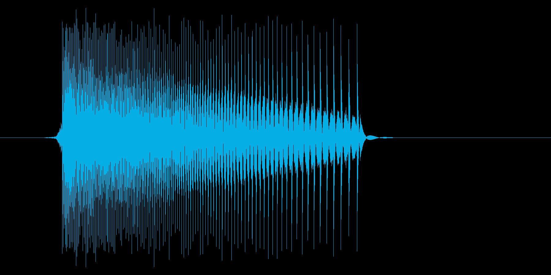 ゲーム(ファミコン風)レーザー音_011の再生済みの波形