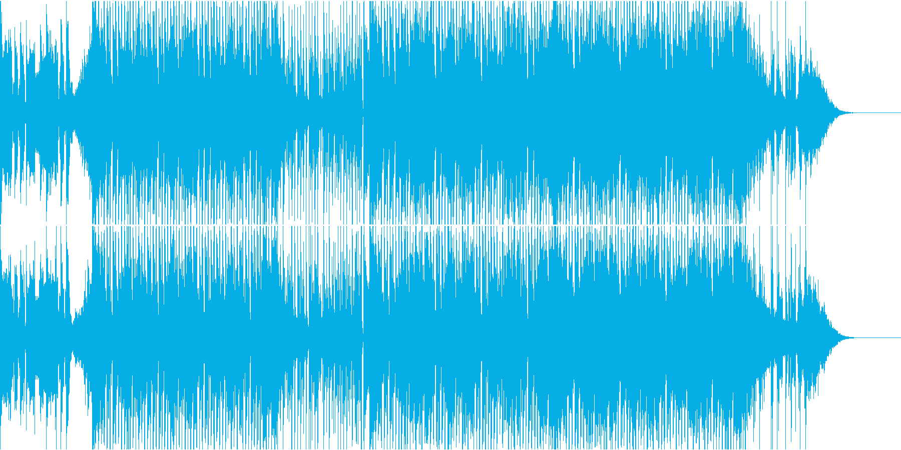 クールでスリリングなインストの再生済みの波形