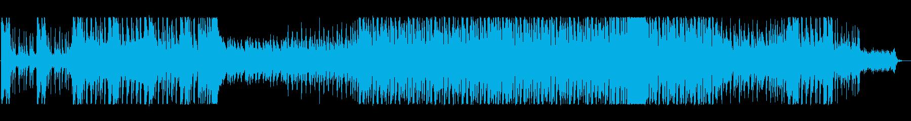 軽快なテクノで疾走感があるポップスの再生済みの波形