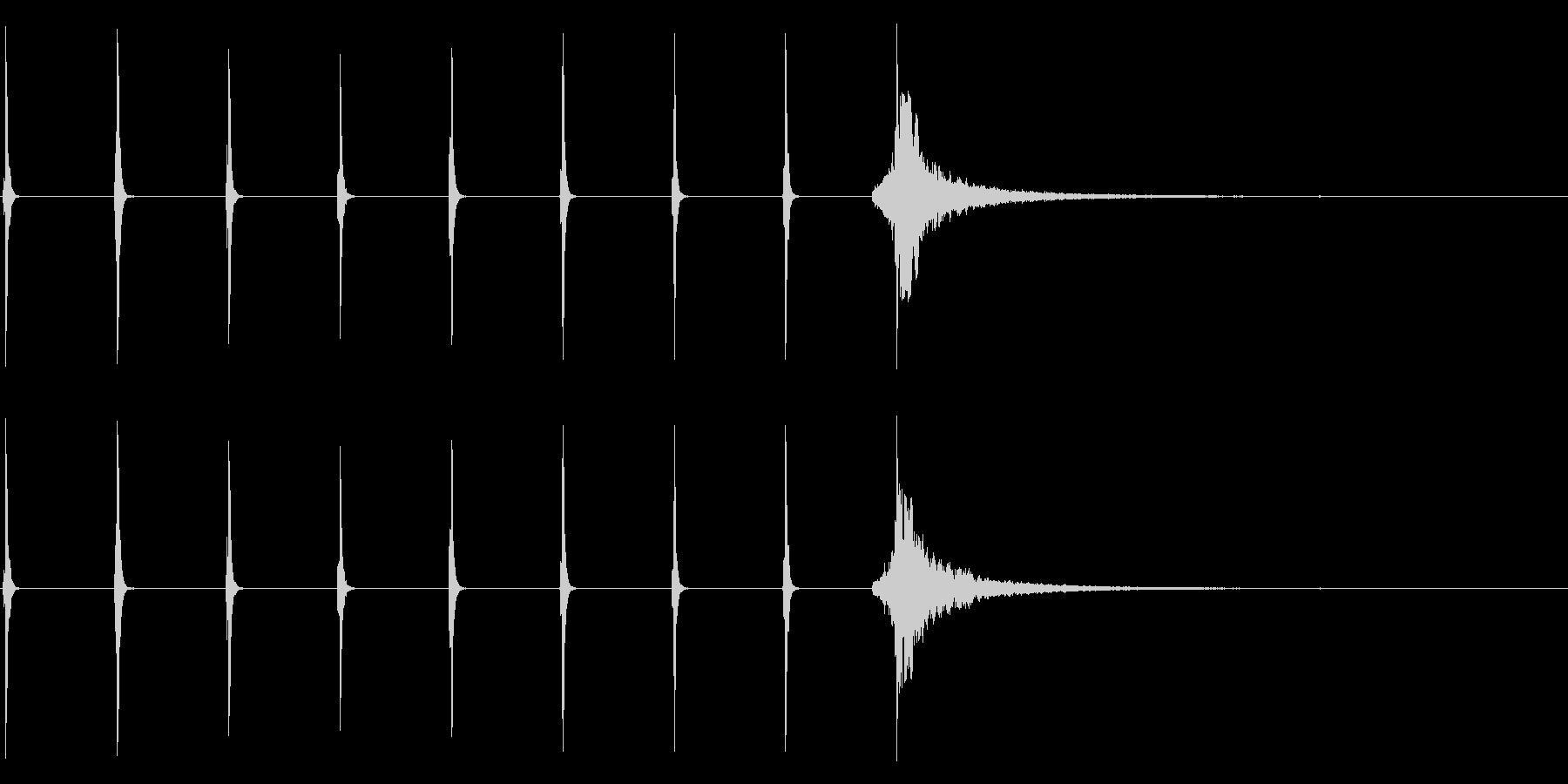 シンキングタイム用/時計の秒針! 1の未再生の波形