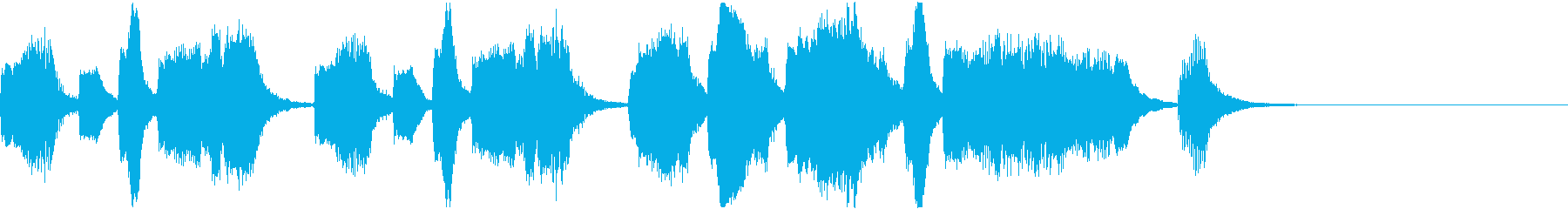 ファンタジー向けオーケストラジングルの再生済みの波形