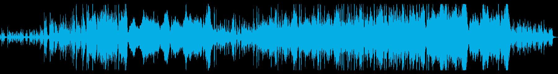 躍動的で新しい始まりを感じさせるオケ曲の再生済みの波形