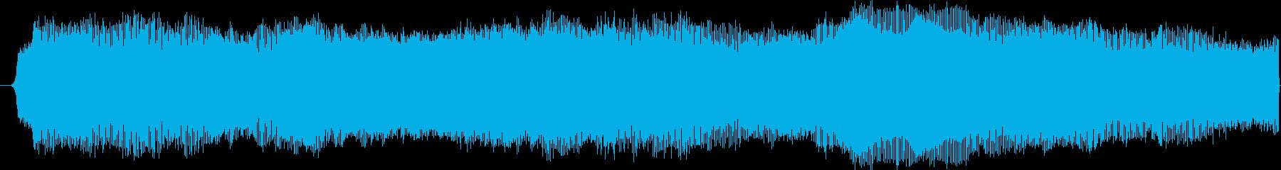 ブー(サイレン音)の再生済みの波形