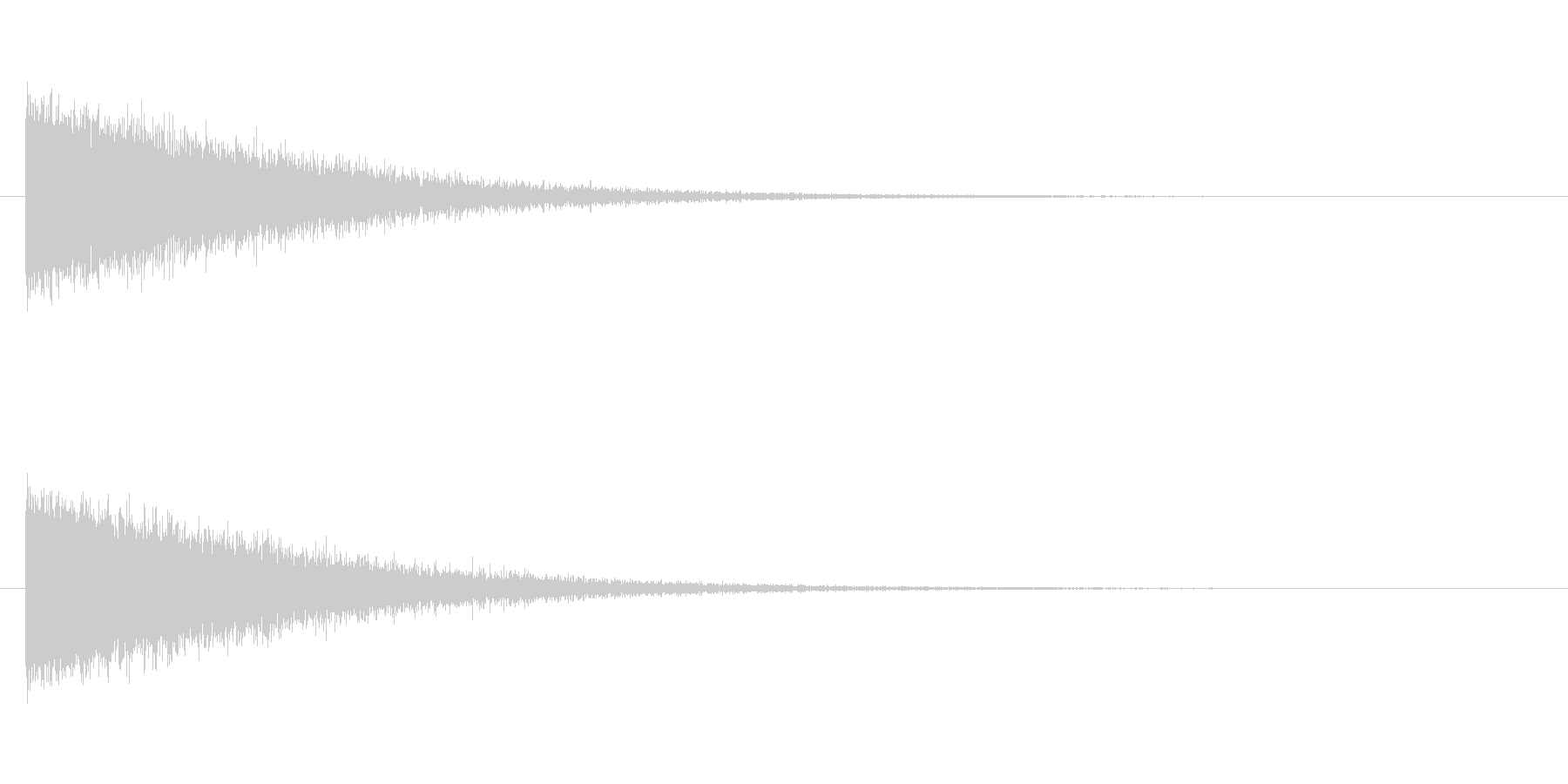 ノイズ エンカウントの未再生の波形