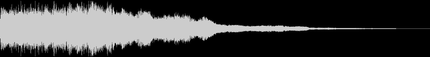 ファーーン! ホーンの音 スタート音の未再生の波形