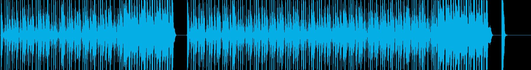 カッティングが強めのロックな曲の再生済みの波形