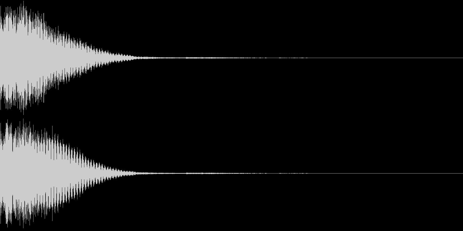 クリック音、キラン、キュイン、ピコン03の未再生の波形