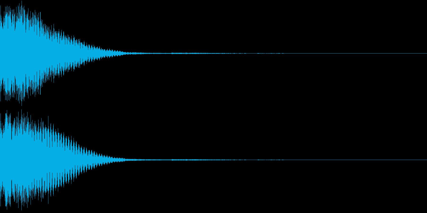クリック音、キラン、キュイン、ピコン03の再生済みの波形