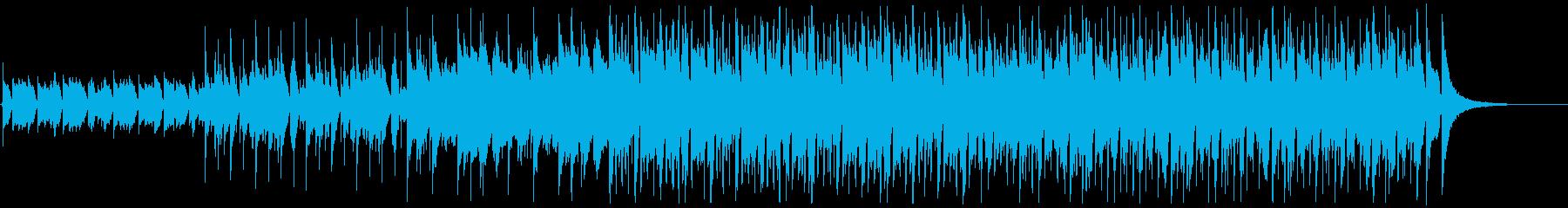 ウクレレとピアノが主なポジティブな曲の再生済みの波形
