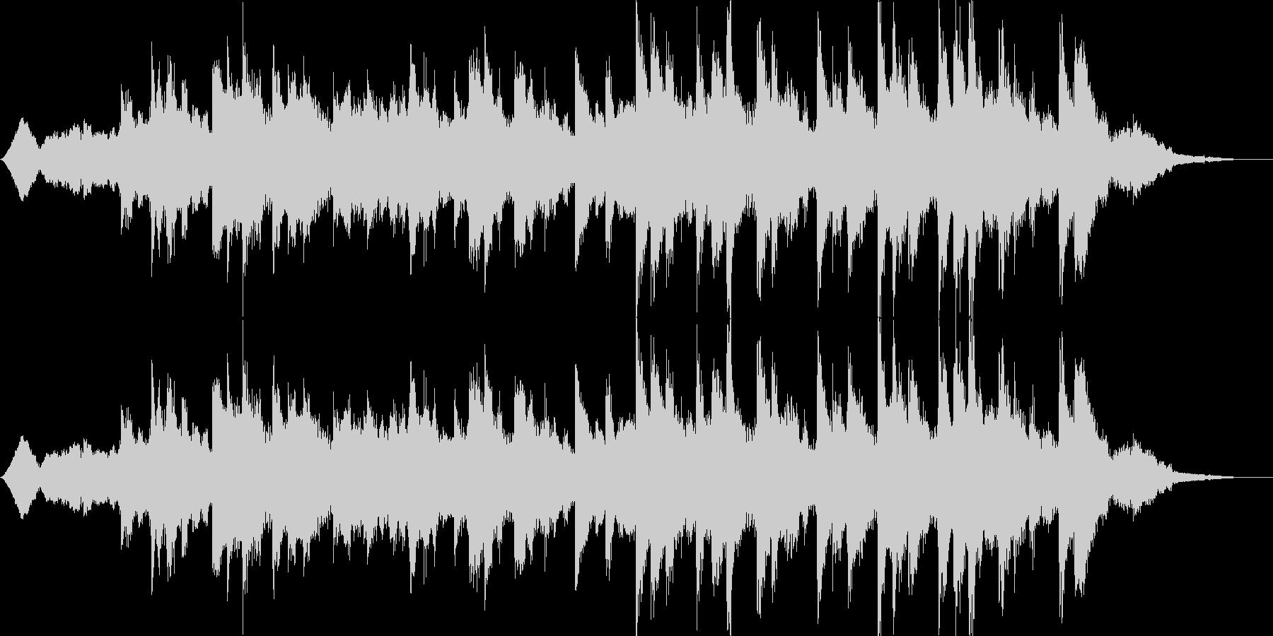 不気味ピアノの不協和音が印象的の未再生の波形