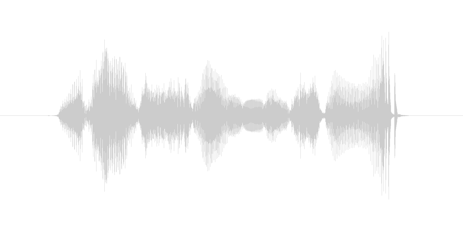 Welcome's unreproduced waveform