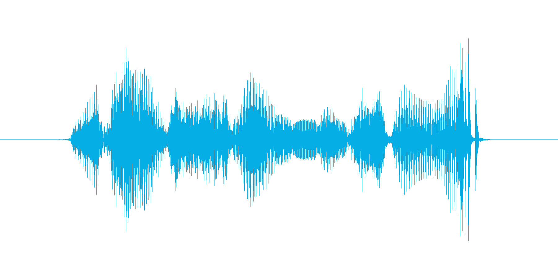 Welcome's reproduced waveform