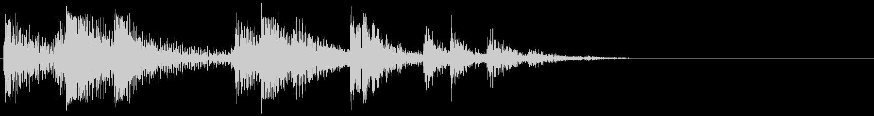 セラミックタイル:ハードピースでの...の未再生の波形