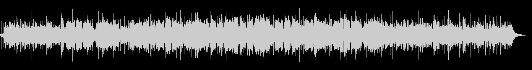 ほのぼのとした弦と笛による和風系BGMの未再生の波形
